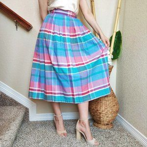 Sale! Woolrich Plaid 100% Cotton Pleated Swing Skirt